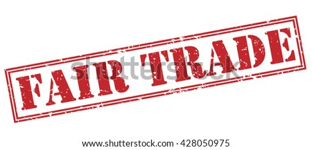 fair trade stamp - stock photo