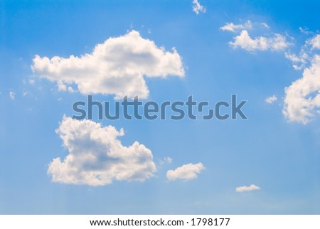 Fair weather clouds in a summer sky - stock photo