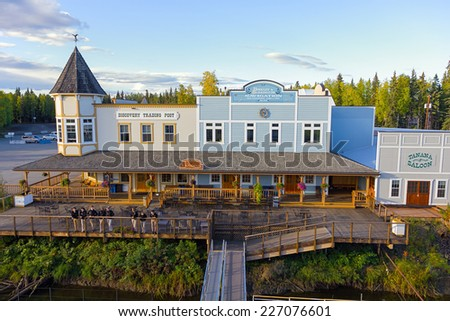 FAIRBANKS, ALASKA, USA - SEPTEMBER 10, 2013: Discovery Trading Post who serves as departure point for the popular cruise on the Chena and Tanana rivers aboard the sternwheeler Discovery Steamboat.