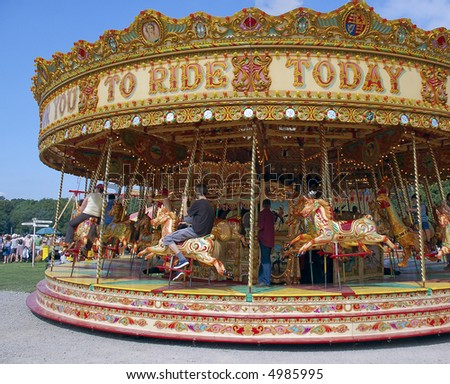 Fairground Carousel - stock photo