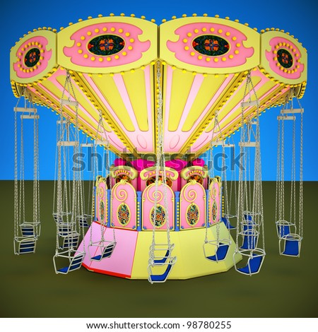 Fairground Carousel - stock photo