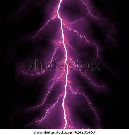 Fairly constrained forked lightning, digital illustration art work.