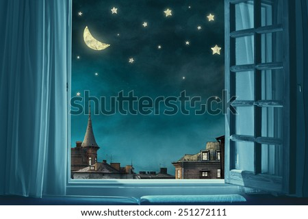 fairy background with stars