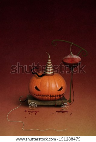 Fairy Character Pumpkin for Halloween.  - stock photo