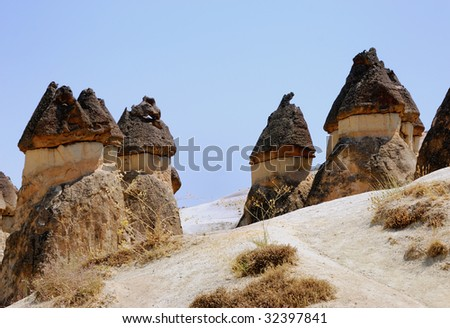 Fairy Chimneys-a geological feature in Cappadocia, central Turkey