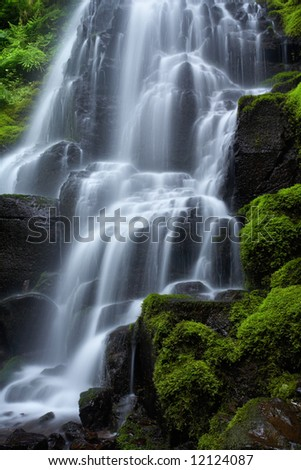 Fairy falls detail - stock photo