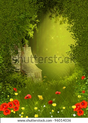 Fairy forest - stock photo