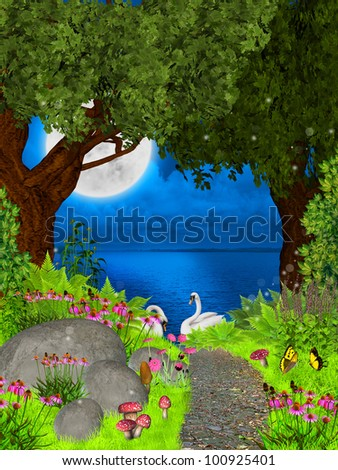 fairy night - stock photo