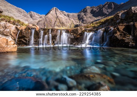 Fairy pool - stock photo