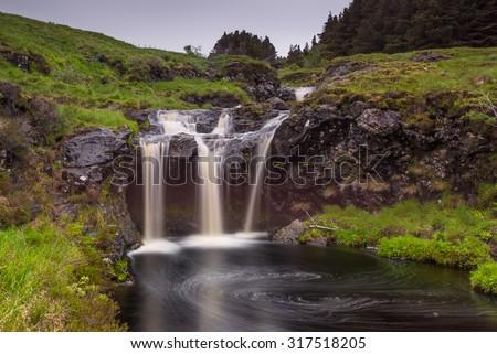Fairy pools waterfalls, isle of Skye, Scotland - stock photo