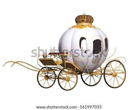 fairy royal carriage - stock photo