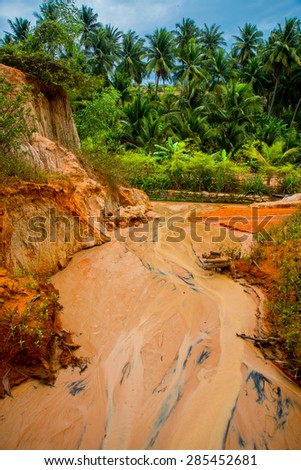Fairy Stream (Suoi Tien), Mui Ne, Vietnam. One of the tourist attractions in Mui Ne.Beautiful mountains and water.Asia