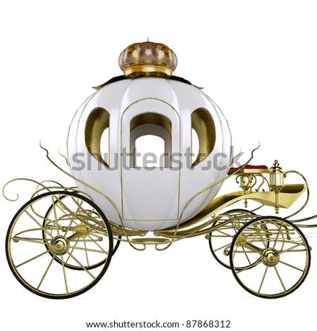 fairy tale carriage - stock photo