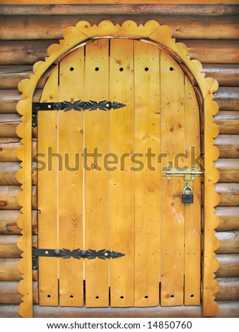 fairy tale wooden door