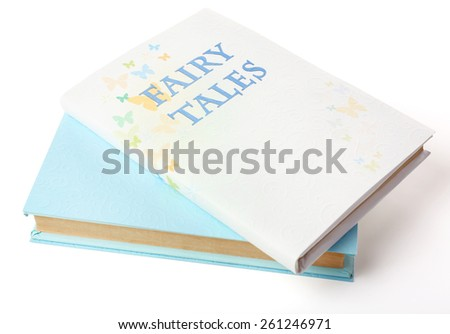 Fairy tales on table, close-up - stock photo