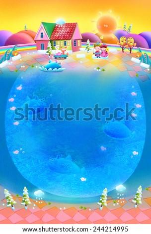 Fairy Town - Scene Design - stock photo
