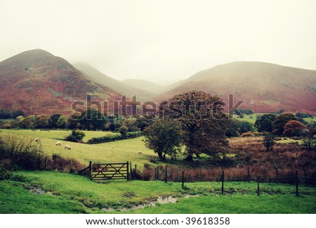 Fairytale in the mountains. - stock photo