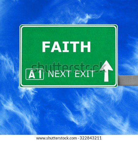 FAITH road sign against clear blue sky - stock photo