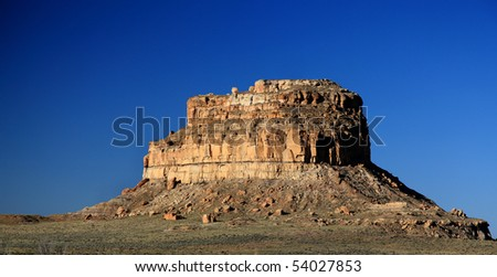 Fajada Butte in Chaco Canyon - stock photo