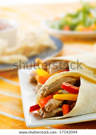 fajitas dinner - stock photo