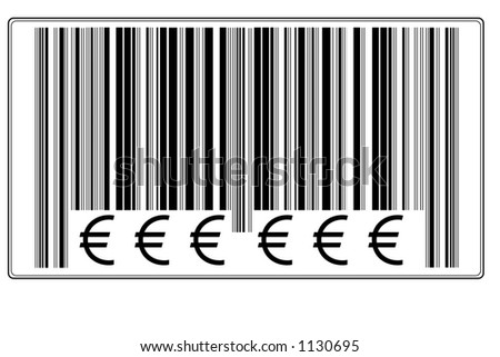 "Fake Bar Code with text ""€ € €"" #7"