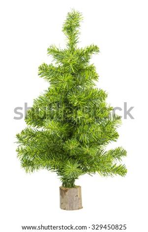 fake christmas tree isolated - stock photo