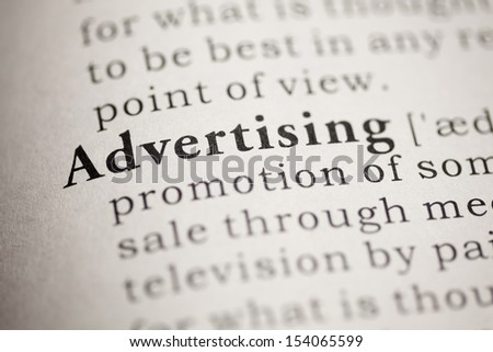 Fake Dictionary, Dictionary definition of the word Advertising.