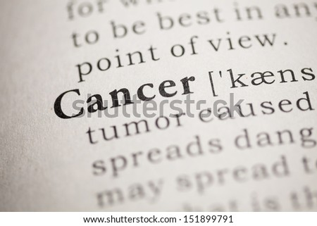 Fake Dictionary, Dictionary definition of the word cancer.