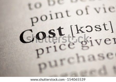 Fake Dictionary, Dictionary definition of the word Cost.