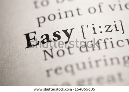 Fake Dictionary, Dictionary definition of the word Easy.