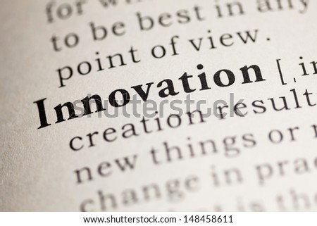 Fake Dictionary, Dictionary definition of the word Innovation.
