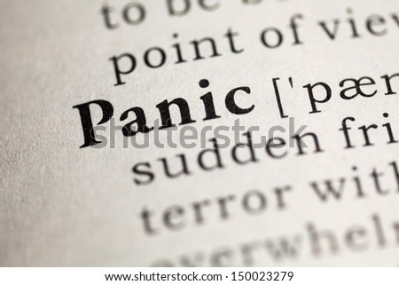 Fake Dictionary, Dictionary definition of the word Panic.