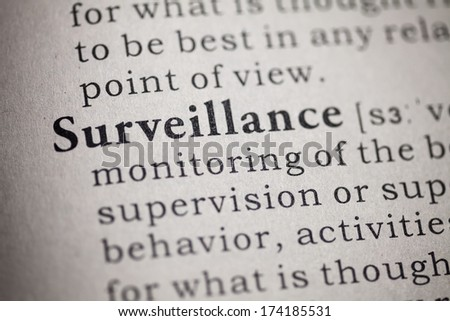 Fake Dictionary, Dictionary definition of the word Surveillance.