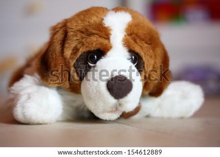 Fake dog plush - stock photo