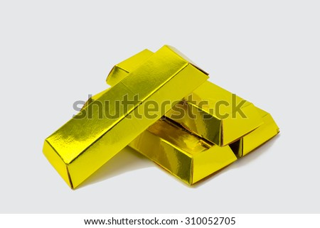 fake gold made from paper (ghost money) chinese happy new year