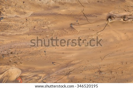Fake Mars Soil Aerial View - stock photo