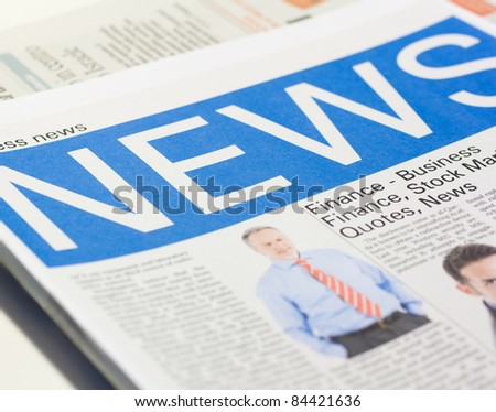 Fake newspaper - stock photo