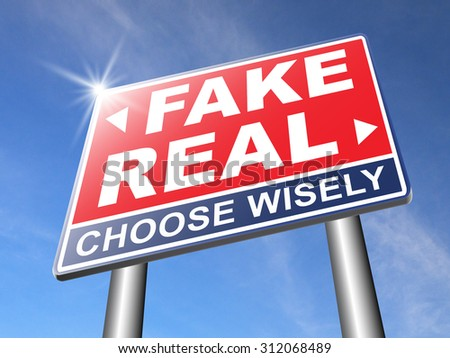 fake or real being in doubt and suspicious critical thinking possible or impossible reality check searching truth being skeptic skepticism - stock photo