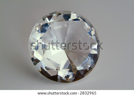 faked diamond - stock photo