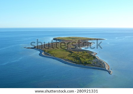 Falholmen island outside gotland in the Balticsea in Sweden during sunrise