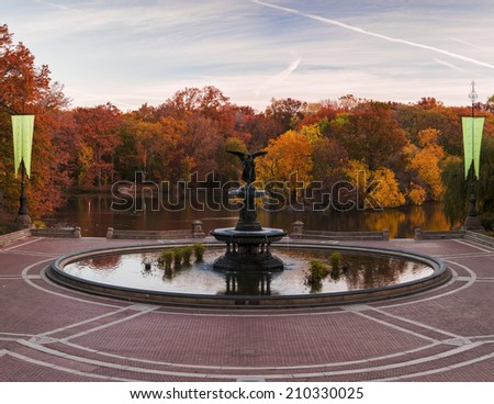 Fall at Bethesda Fountain in Central Park. New York City  - stock photo