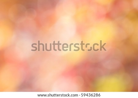 fall background of red and yellow with bokeh - stock photo