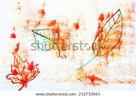 Fall backgrounds or Autumn leaves background - stock photo