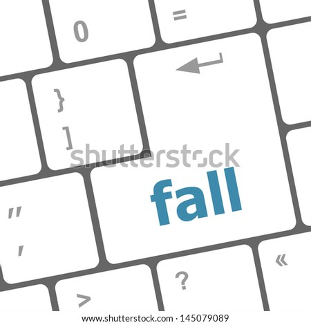 fall button on computer pc keyboard key, raster
