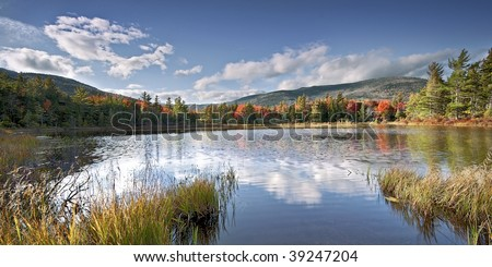 Fall colors in the White Mountains of New Hampshire - stock photo