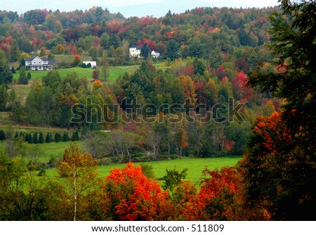 Fall country scene - stock photo