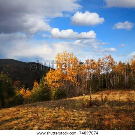 Fall Foliage In The Adirondack Mountains, New York, USA - stock photo