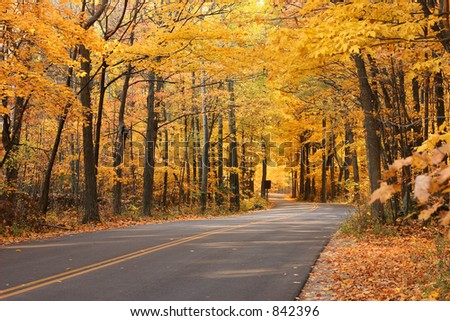 Fall Highway - stock photo