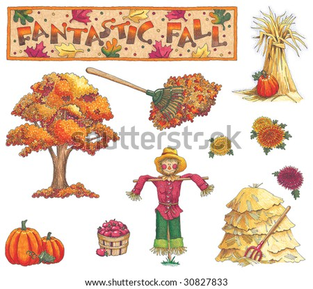 Fall Illustrations Fall Illustrations Stock
