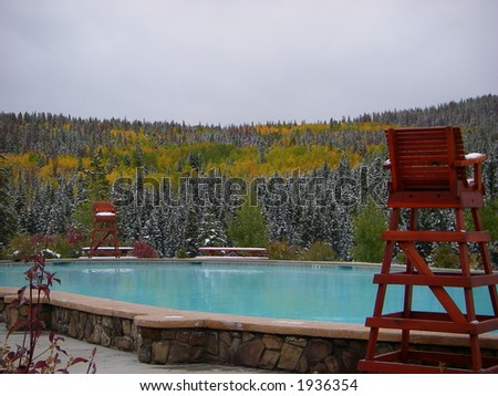 Fall in the mountains - stock photo